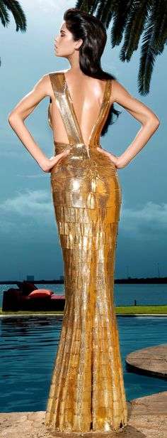 The Millionairess Of Pennsylvania ....Goddess Gold gown: Summer Resort | Keep The Glamour ♡