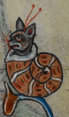 Detail from medieval manuscript, British Library Stowe MS 17 'The Maastricht Hours', f185r