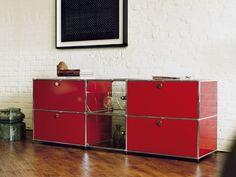 Buffet Composable Laquée En Métal USM Haller Credenza For Living Room  Collection USM Haller By USM
