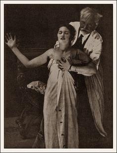 Alphonse Mucha and his daughter, Jaroslava 1926
