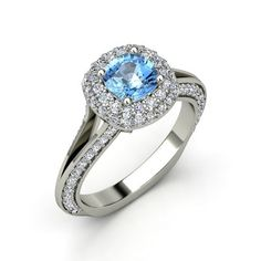 The Elena Ring #customizable #jewelry #topaz #diamond #gold #ring  Someone better propose to me with this ring.