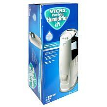 Vicks Pure Mist Humidifier by Vicks. $75.81. The Vicks® Pure Mist Humidifier produces a 99% germ-free mist and sanitizes the water with UV technology. It features digital controls and a unique, space-saving tower design.. The Vicks® Pure Mist Humidifier produces a 99% germ-free mist and sanitizes the water with UV technology. It features digital controls and a unique, space-saving tower design.