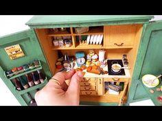 종이로 만드는 미니어처 - 주방팬트리 Free Standing Kitchen Pantry & pantry cabinet - YouTube