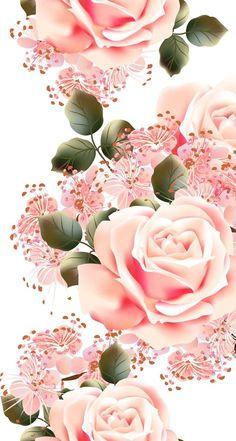Wallpaper vintage floral decoupage 50 new ideas Floral Wallpaper Iphone, Flowery Wallpaper, Rose Wallpaper, Trendy Wallpaper, Cellphone Wallpaper, Cute Wallpapers, Flower Backgrounds, Wallpaper Backgrounds, Vintage Backgrounds