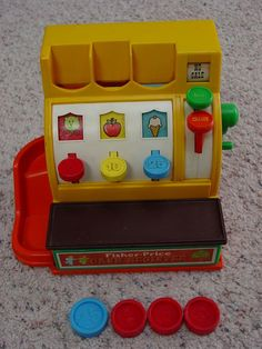 vintage fisher price cash register...I totally had one of these :)