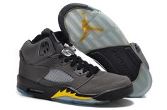 d03486638dbc97 Air Jordan 5 Slate Grey Black Laney Yellow Jordan V