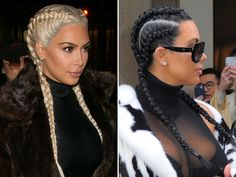 The Braid Brigade: Hollywood& Hottest Hairstyle Plaits are popping up everywhere! See how stars — from Kim Kardashian West to Katie Holmes — are sporting different versions of this certifiably hot look 1940s Hairstyles, Plaits Hairstyles, Girl Hairstyles, Khloe Kardashian Braids, Hot Hair Styles, Natural Hair Styles, Braid Styles, Hair Hacks, Asian Hair