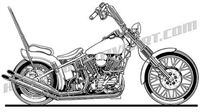 chopper motorcycle side view