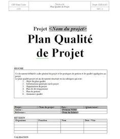 Exemple plan qualité projet en word doc