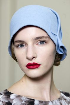 Cloche hat, beautiful blue Frm bd: Millinery Master Class