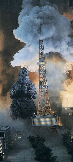 Godzilla vs. a clock tower (1991)