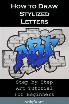 Learn step by step how to draw any word in your own graffiti lettering style. We'll show you everything you need to know so you can start creating your own artwork. Graffiti Art Drawings, Graffiti Text, Graffiti Words, Graffiti Lettering Fonts, Graffiti Murals, Graffiti Styles, Typography, Drawing Letters, Wall Drawing