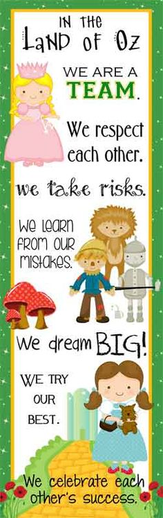 Follow the Yellow Brick Road to ARTrageous Fun on Teachers Pay Teachers for some adorable Wizard of Oz Classroom Decor and printables