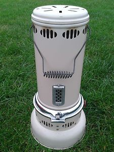 Paraffin heaters - my grandmother stood one in the bath to warm up the bathroom. It did the job !