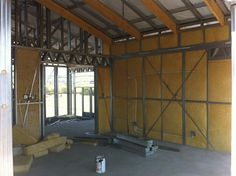 Steel Frame House - Cavity Insulation starting to go in - Main Bedroom (16/10/12)