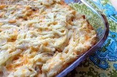Funeral Potatoes..........I also saw Pioneer Woman make these .....same name :)