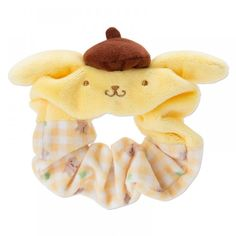 Pom Pom Purin Scrunchy Ponytail Holder Plaid Sanrio Japan Hair Accessory for sale online