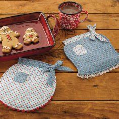 http://www.maggiescrochet.com/pot-holders-pinchers-more-p-2443.html#.UO4PTm_Ad8E    the unique and fun pot holder sets featured in this book can be made with small pieces of fabric. Great as gifts or to keep at home, each project can be customized using a variety of patterns and a personal color palette.