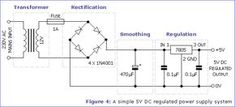 a simple 5V DC regulated power supply