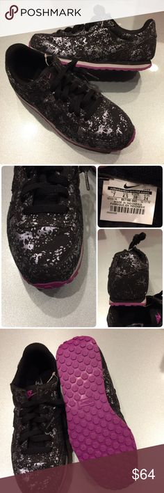 🌷New🌷 NIKE Genicco Premium ~ size 7 brand new no lid ~ SAMPLE RARE color!! size 7 black/silver/white/purple comes from smoke free home 100% authentic M1700031 Nike Shoes Sneakers