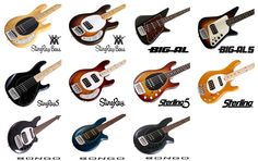 Music Man Bass Guitars - Ernie Ball Signature Basses