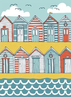 beach huts - Jessica Hogarth