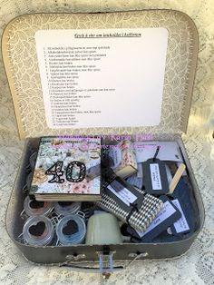Karins-kortemakeri: Førstehjelp til min søster på 40 Smash Book, Kit, Confirmation, Birthday, Tattoo, Creative, Painters, Birthdays, Tattoos