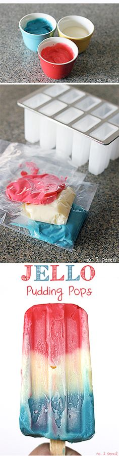 Jello Pudding Pops - these taste just like the original and are perfect for 4th of July!