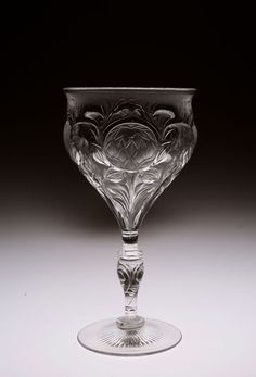 from GALLERY GRACE's web site. Thomas Webb Glass Crystal, Wine Glass, Grass, English, Crystals, Gallery, Vintage, Design, Cutaway