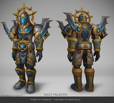 Paladin plate armorset I worked on for World of Warcraft Warlords of Draenor here is turntable with FX I did as well as some color variations: &nbsp. World Of Warcraft Game, World Of Warcraft Characters, Warcraft Art, Warlords Of Draenor, Dark Warrior, Hand Painted Textures, Creature Concept Art, Armor Concept, Bioshock
