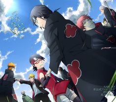 Itachi and Sarada <3 Pain and Boruto <3 Hidan and Shikadai <3