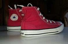 Converse All Star Chuck Taylor Red Unisex High Tops Trainers Size 1 UK, EUR 33