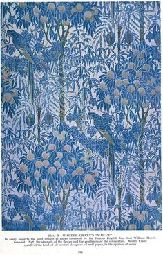 William Morris - Walter Crane's 'Macaw'==wall paper. so lovely.