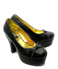 Take a look at this Black Pretty Pump by B.A.I.T. on #zulily today!