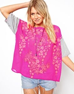 Funky! Love it! ASOS T-Shirt with Floral Puff Print