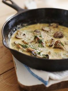 Mushroom & Dill Cream sauce recipe. I make this with pumpkin ravioli and it tastes amazing. Most times I swap out dill and use sage instead.