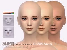 My Sims 4 Blog: S-Club WMLL thesims4 BASSIS skintones I