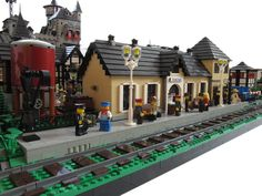 Lego Train Station, Lego City Train, Lego Trains, British Commandos, Go Boldly, Where Eagles Dare, The Garrison, Lego Pictures, Lego Moc