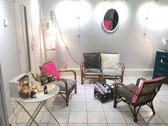 Boutique éphémère Coeur étoilé : meubles vintage, objets déco, lampes, créations textiles, photophores, ...