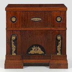 a biedermeier mahogany burrwood parquetry and alabaster. Black Bedroom Furniture Sets. Home Design Ideas