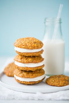 Carrot Cake Cookies - Cooking Classy   Apparently Greek yogurt can sub cream cheese? We'll see