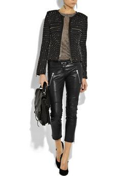 Isabel Marant Cropped Leather Pants
