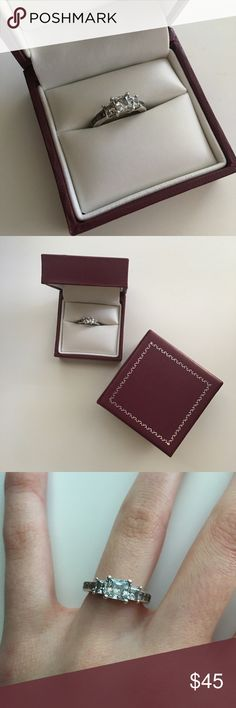 Helzberg Diamonds Simulated Diamond Ring  Helzberg Diamonds Diamondvita Sterling Silver Ring   - gently loved - Scuffs on the side from jewler when it was altered to a size 3 - Great condition ✨ - Boxes included - No Trades  No Paypal - Bundle 3+ Items for a discounted price   If you have any questions, feel free to ask in the comments below  Helzberg Diamonds Jewelry Rings