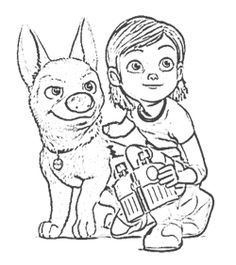 Penny Bolt Supervise Coloring Page