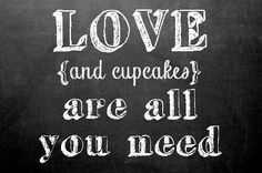 love and cupcakes chalkboard design