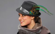 peacock fedora