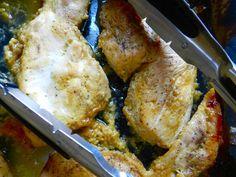The World's Best Chicken by Rachel Schultz...Dijon mustard, maple syrup, rosemary, red wine vinegar, salt & pepper.