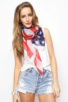Scarf USA flag  BLEUDAME {esgotado}