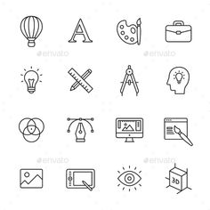 Design Line Icons. Download here: http://graphicriver.net/item/design-line-icons/14913975?ref=ksioks