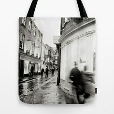 Around this corner... Tote Bag by Anja Hebrank - $22.00  #york #uk #england #corner #shop #silouette #shopping #old #vintage #dresden #germany #deutschland #streetphotography #canon #present #decoration #kitchen #interior #bnw #blackwhite #travelling #travelphotography #design #individual #society6 #print #art #artprint #interior #decoration #design #accessories #accessory #bag #totebag #tasche #beutel #jutebeutel #hipster